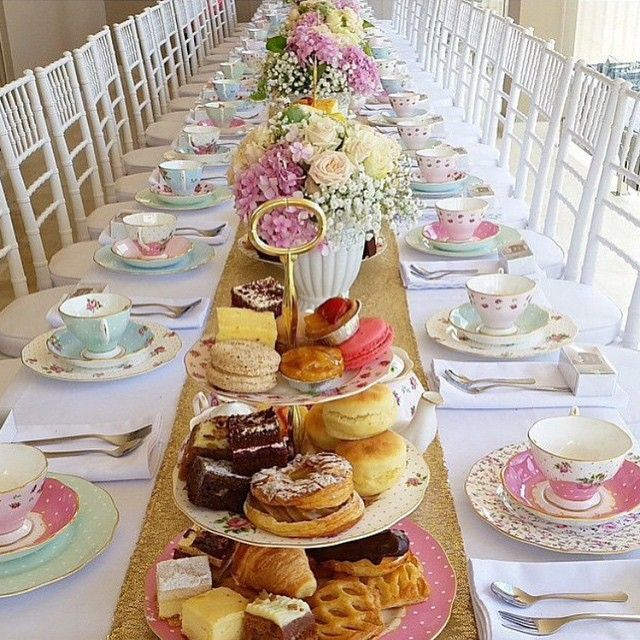 Tea party bridal/baby shower inspiration. If you're planning a shower for a bride that isn't into the hectic but is a high tea lover this is for her.