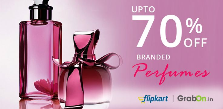 Get discount Upto 70% on huge collection of top branded perfumes at Flipkart. Click on http://www.grabon.in/coupon-codes/?cid=3279 to Grab this exclusive deal.  #Perfumes #Deals #Flipkart #Discounts