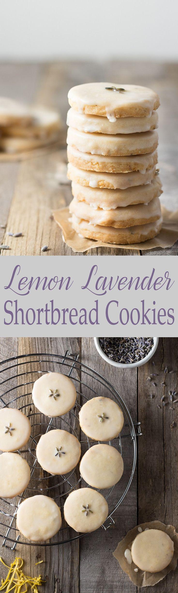 Lemon Lavender Shortbread Cookies   Brinasbites.com @Brina's Bites