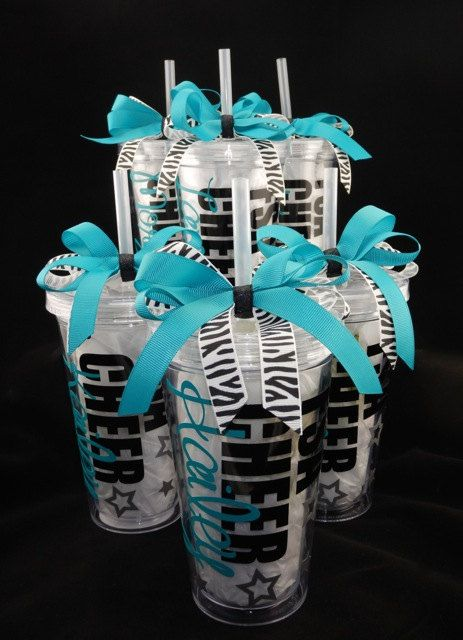 Deluxe Personalized Cheerleading Tumbler Cup by DanisCuties