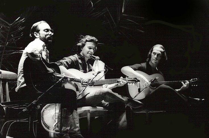 como los 3 tenores, pero en guitarra: Paco de Lucía, Al di Meola y John McLaughlin
