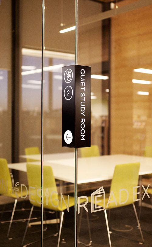 Hume Global Learning Centre & Library identity system and signage | Design by Pidgeon