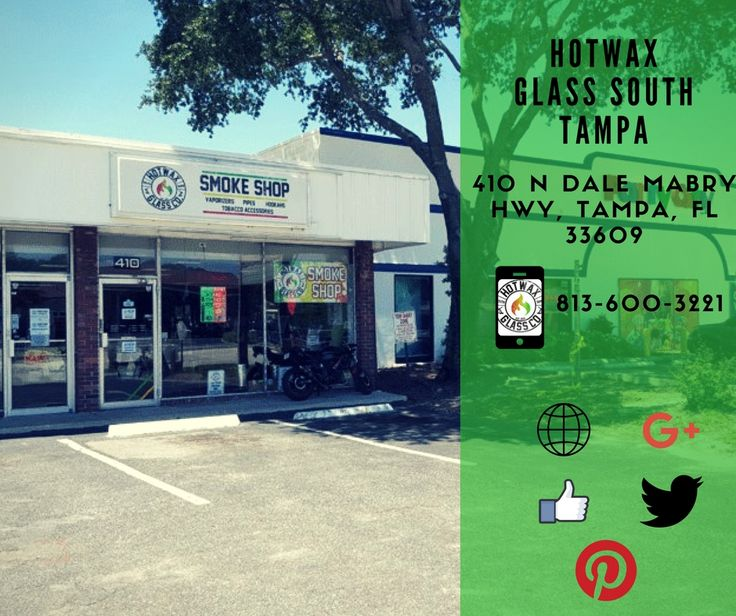 Hot Wax Glass South Tampa specializes in Smoke Shop, Head Shop,Tobacco Vape Shop, E-Cigs, E-Juice, Tobacco Pipes, Tobacco Accessories, Vape Accessories, Electronic Cigarettes, Hookahs and much more. We look forward to your business and serving you.