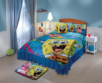 The Spongebob Bedspread Set Is Ideal For Any Boy S Room