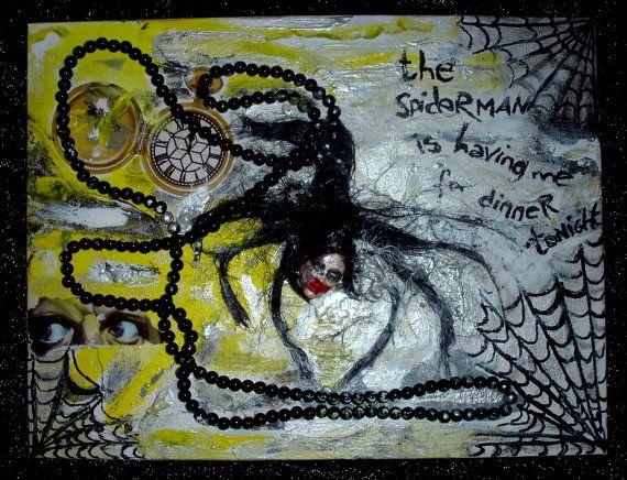 Cuadro collage decoracion horror por PostDollsARTuNIVERSE en Etsy, €69.99