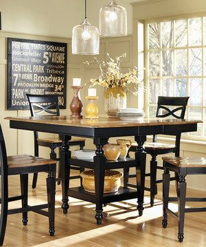 Another great find on #zulily! Black Oak Five-Piece Counter-Height Dining Set by Coaster #zulilyfinds