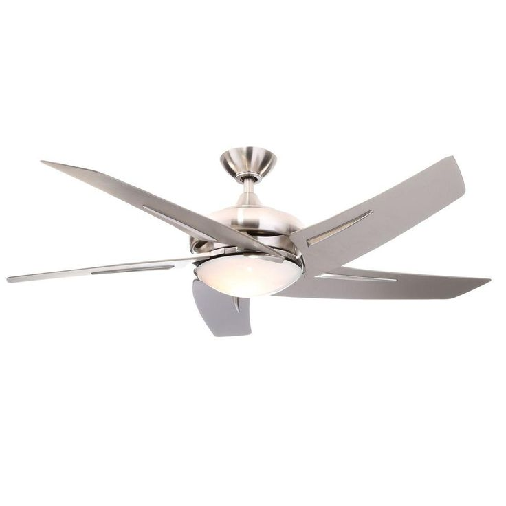 Hampton Bay Sidewinder 54 in. Brushed Nickel Ceiling Fan 34889 at The Home Depot - Mobile