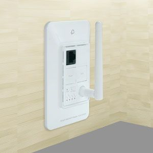"""""""An in-wall Wi-Fi router"""" This could be used for small spaces or to extend the range of existing wifi networks."""
