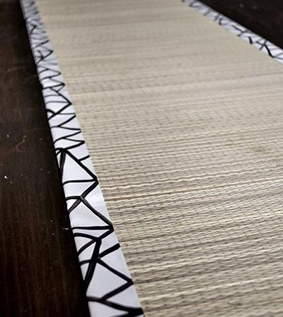 DIY Dinner Party Bamboo Table Runner