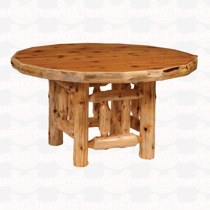 Fireside Lodge Furniture Cedar Round #Log #DiningTable