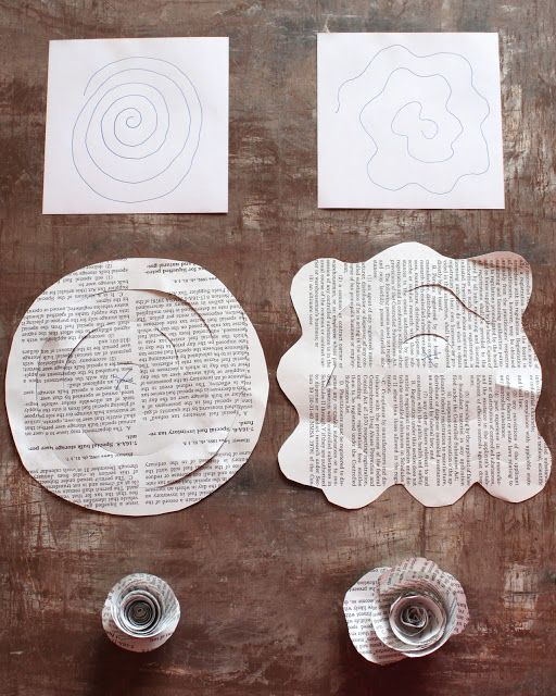 The Creative Side! Inside The Cates Castle: Paper Flowers, Book Pages??!!! What??? NO!!!