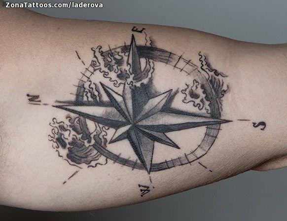 Tatuaje De Rosa De Los Vientos Olas Zonatattoos Com Rosa De Los Vientos Rosa De Los Vientos Dibujo Tatuaje Viajes
