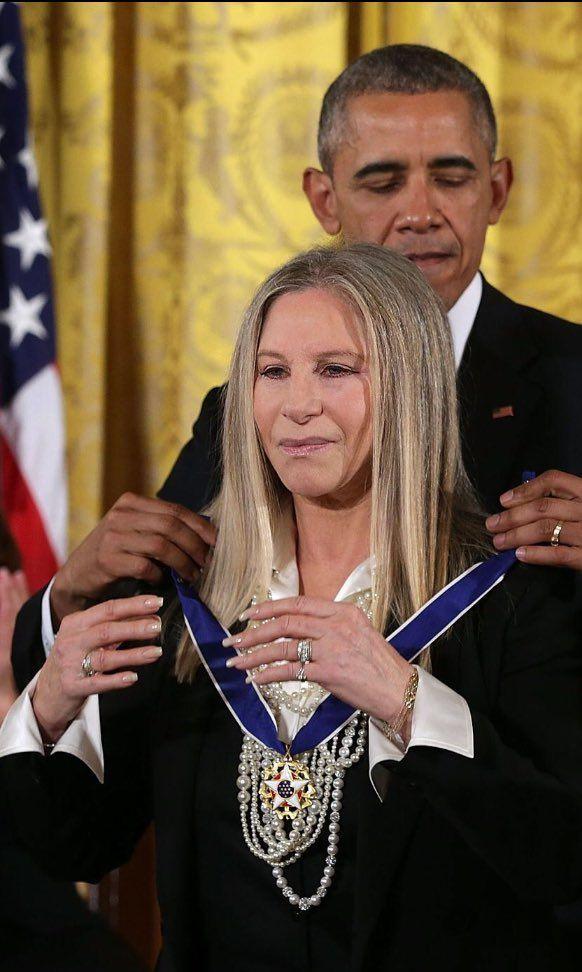 Barbra Streisand wins Presidential Medal of Freedom. Twitter