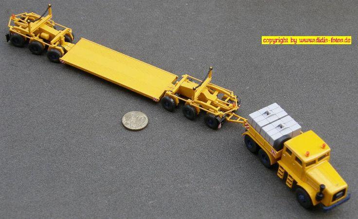 Scheuerle 6achs Tieflader mit Kaelble KDV 22Z Doka Zugmaschine (Wiking 851/39 48)