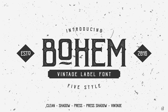 Bohem Typeface - 5 Font Style by DikasStudio on @creativemarket