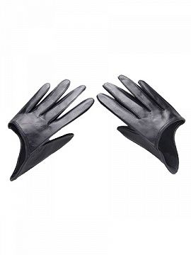 Shop Black Real Leather Half Gloves from choies.com .Free shipping Worldwide.$15.99