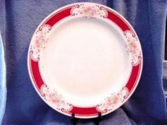 Homer Laughlin Brittany Majestic B1315 chop plate - vintage china dinnerware housewares Ohio River Pottery