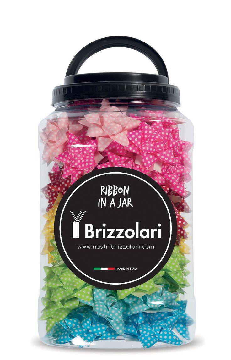 Ribbon in a Jar #nastribrizzolari #ribbon #ribboninajar #color #pois
