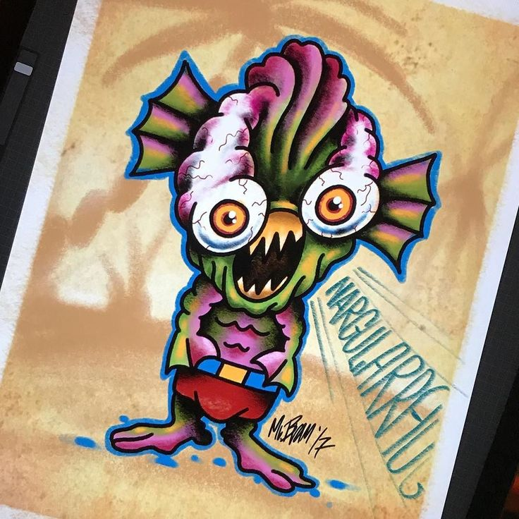 Today's theme for #mabsdrawlloweenclub is #blacklagoon #creature - Looking for an artist to turn your idea in to a kickass tattoo? Let's talk. Get in touch a jesper@bram.tattoo or direct message. #bramtattoo #jesperbram #tatovering #tatovør #tatoveringer #dansktatovørlaug #copenhagentattoo