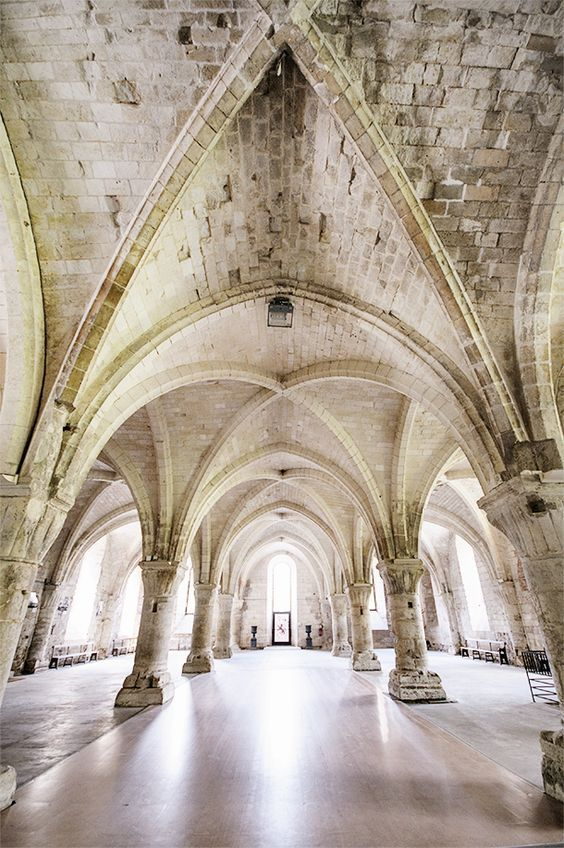 Don't miss the stunning Abbaye de Vaucelles in Nord-Pas-de-Calais, France - From CheesWeb.eu's Ultimate Guide and Itinerary for Nord-Pas-de-Calais in Northern France.