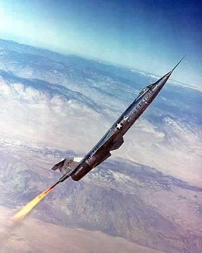 General Chuck Yeager The NF-104 Starfighter going up.