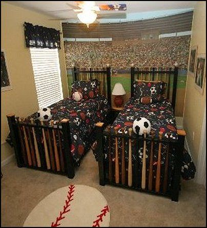 Sports theme bedroom decorating ideas