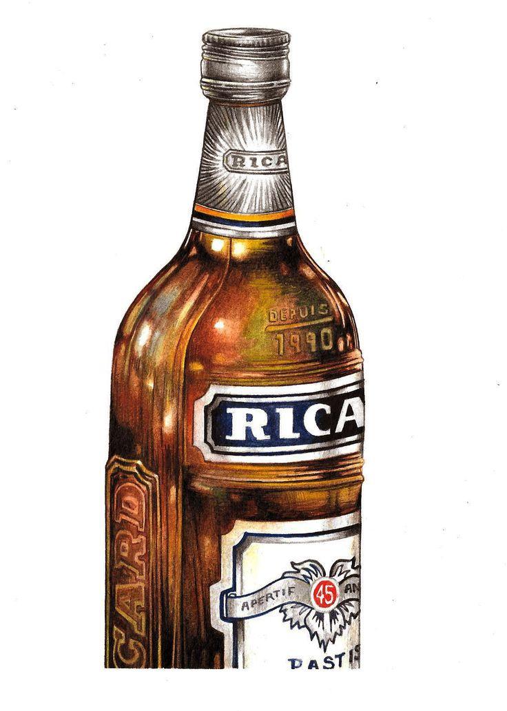 """Ricard"" (2014)  watercolour on paper (15x21cm) by Tiina Lilja"