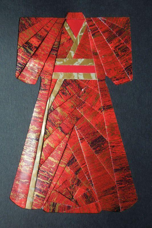 Iris folding : kimono