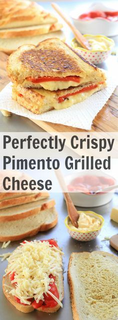 Perfectly Crispy Pimento Grilled Cheese - TheNoshery.com