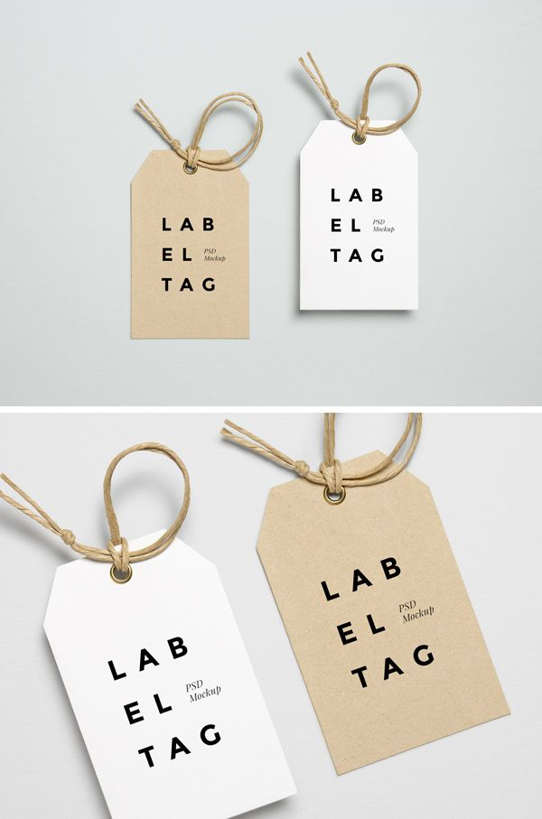Today we have for you a photorealistic PSD mock-up of a paper label tag with twine string for your branding/identitypresentations. This mock-up incl...