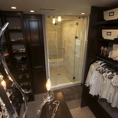 Beautiful home remodel closets pinterest walk in for Master bathroom with walk in closet