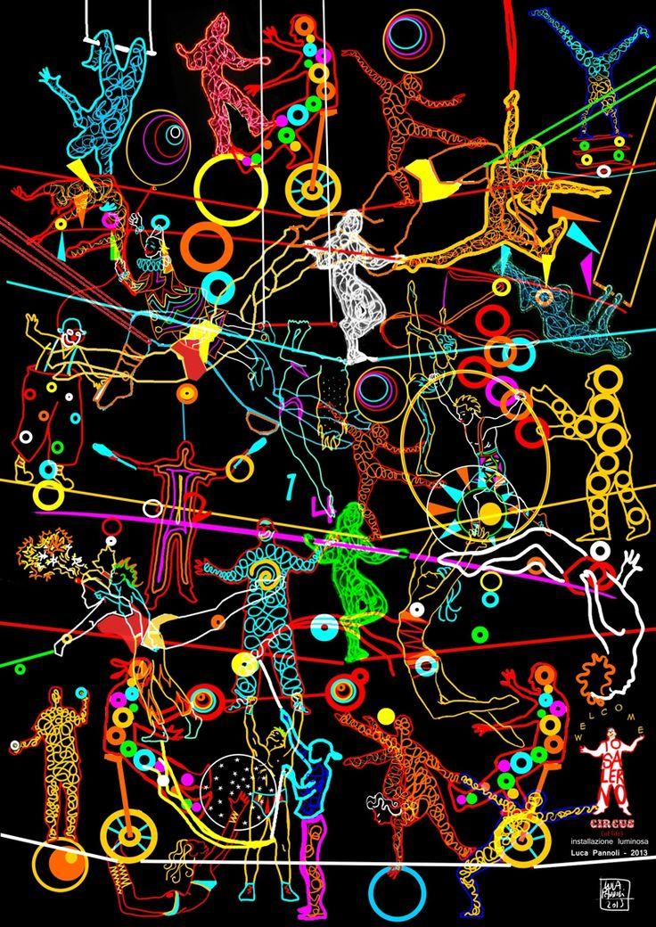 """Progetto per installazione luminosa """"Circus"""" - Città di Salerno 2013"""