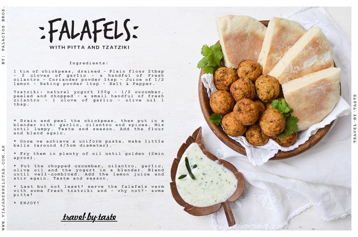 Falafels + Tzatziki sauce makes a great combo!