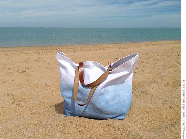 pour mes jolis mômes, mais pas que...: Mon sac de plage en dégradé :: Simplissime à faire, tuto inclus.