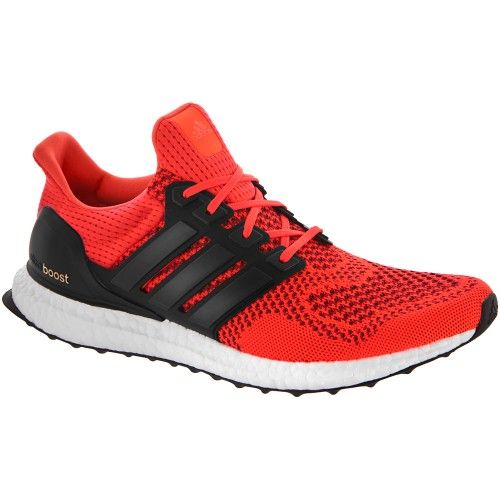 adidas Ultra Boost Men\u0027s Solar Red/Black at holabirdsports.com