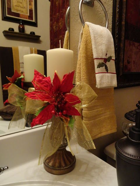 our home away from home a touch of christmas in the guest bath