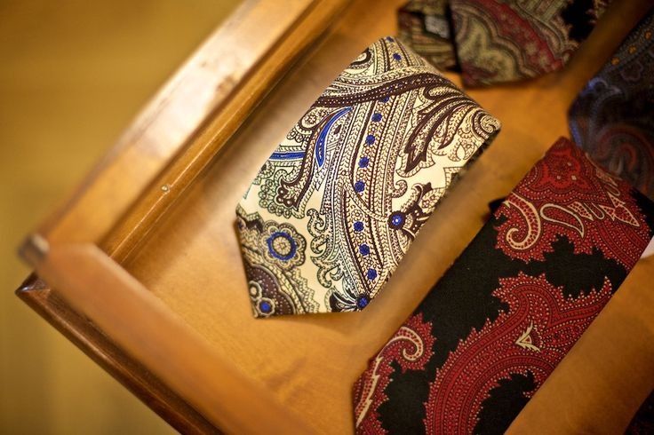 Beautiful ties from Drake's of London.