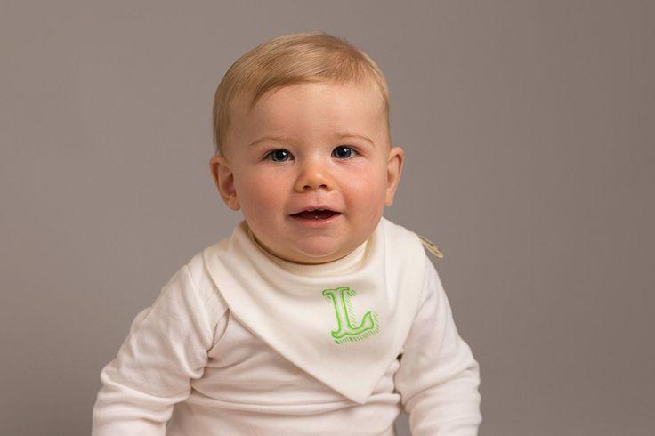 Screen printed personalised baby bib