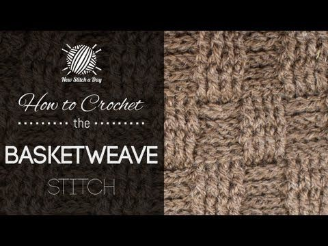 The Basketweave Stitch :: Crochet Stitch #107