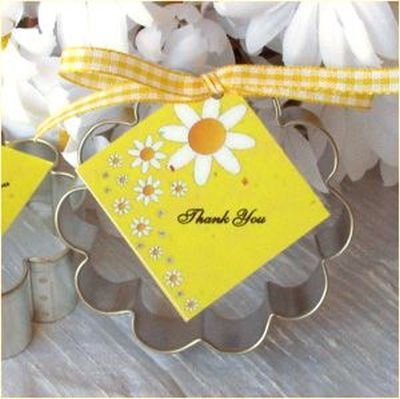 Useful cookie cutter bridal shower favors.  See more bridal shower favor ideas at www.one-stop-party-ideas.com