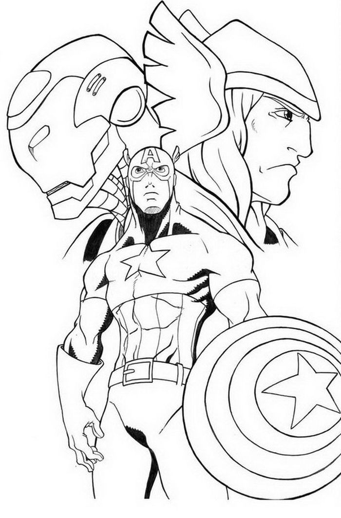 Avengers Printable Coloring Pages Avengers Coloring Avengers Coloring Pages Captain America Coloring Pages