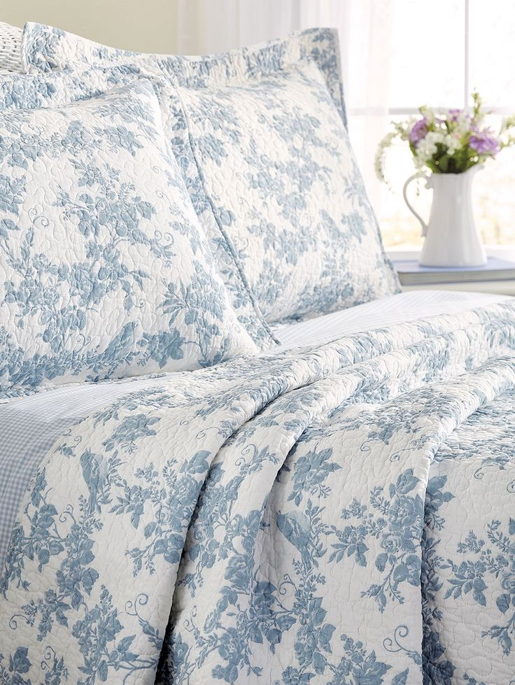 Garden Toile Cotton Quilt Or Pillow Sham 2019 Want To