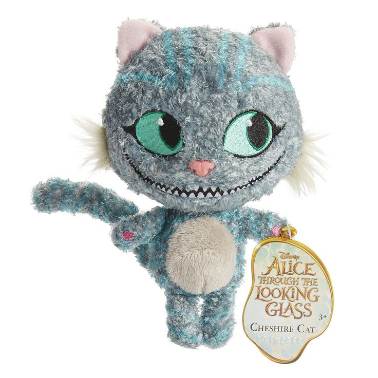 Disney Alice in Wonderland Cheshire Cat Plush Figure by Jakks Pacific, 2016 ($13 at Toysrus.com) - The Disney Alice in Wonderland plush collection features the characters depicted as stylized plush. The soft plush characters are outfitted in detailed fashions as depicted in Disney's Alice Through the Looking Glass. Chessur the Cheshire Cat resembles his younger self when Alice travels back in time. There are 5 characters to choose from: Cheshire Cat, White Rabbit, Red Queen, Mad Hatter and…