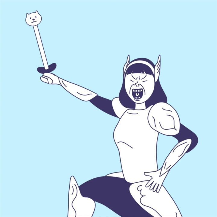 """좋아요 18개, 댓글 1개 - Instagram의 까나리존스(@kanari_jones)님: """"예) 권붕아, 밥 먹으러 #가즈아 ㅏㅏㅏㅏ 예) 취했냐? 그만 집에 #가즈아 ㅏㅏㅏㅏ #생활판타지 #gif #knight #worrior #fantasy #illustration…"""""""