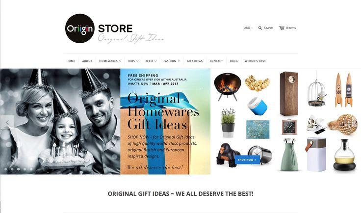 OriiginStore – ORIGINAL HOMEWARE GIFT IDEAS – WE ALL DESERVE THE BEST!