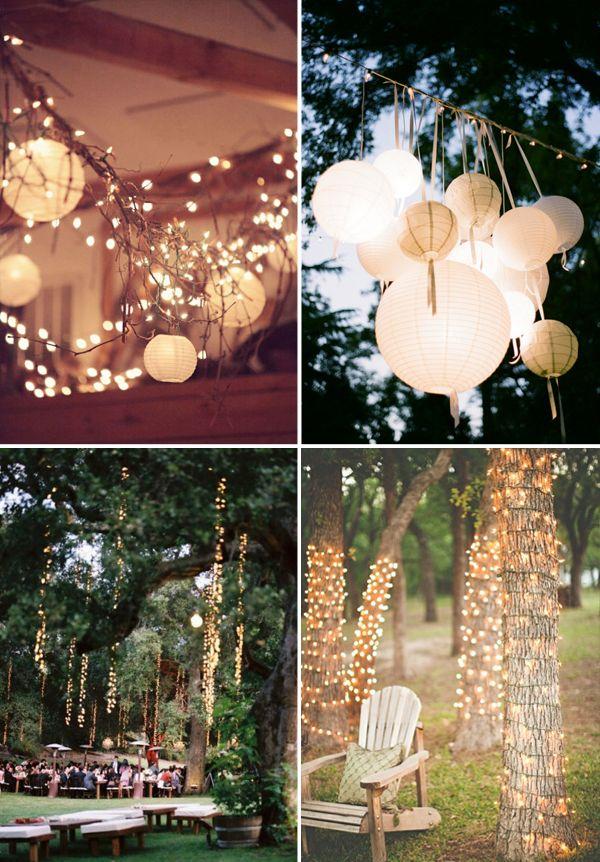 dream wedding reception: night garden party