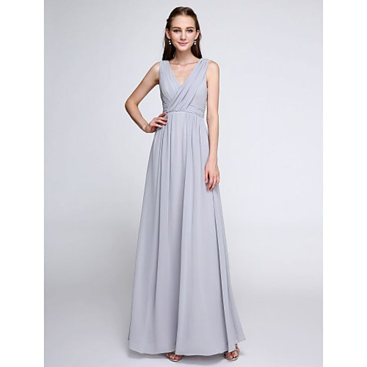 2017 Ankle-length Chiffon Bridesmaid Dress Color Block Sheath Column V-neck with Criss Cross #bridalfeel #bridesmaid #bridesmaiddress #bridesmaiddresses #chiffonbridesmaiddress Coupon Code: Coupon code: 2017code 10% discount on any order from bridalfeel.co.nz