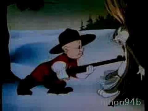 Bugs Bunny and Elmer Fudd battle-cartoon(Un-censored) - YouTube