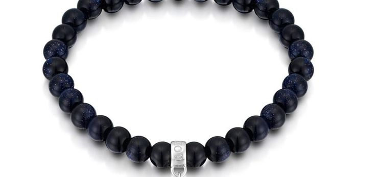 Muse Blue Goldstone Bracelet with Heart Charm
