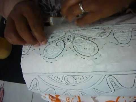ALINHAVANDO RENDA RENASCENÇA DE PESQUEIRA-PE - YouTube